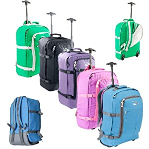 Cabin Max Flight Approved Carry On Trolley Backpack Bag - 44l Wheeled Luggage Ideal For Easyjet 55 X 45 X 25 by Cabin Max
