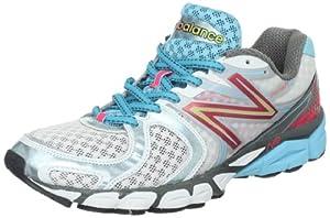 New Balance Women's W1260v3 Running Shoe,White/Blue,9 B US
