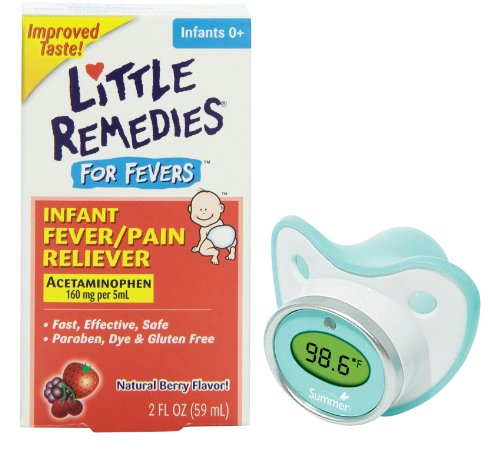 Little Remedies Fever Pain Reliever With Pacifier Thermometer front-836702