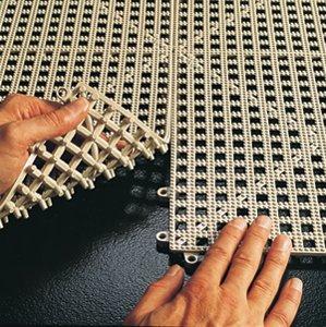 Floor Tile: Almond Dri-Dek Vinyl Interlocking Drainage Floor Tile 2 ...