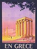 TRAVEL TOURISM ATHENS GREECE TEMPLE OLYMPIAN ZEUS NEW FINE ART PRINT POSTER PICTURE 30x40 CMS CC4386