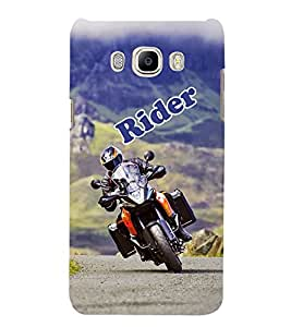 Bike Rider 3D Hard Polycarbonate Designer Back Case Cover for Samsung Galaxy J5 2016 :: Samsung Galaxy J5 2016 J510F :: Samsung Galaxy J5 2016 J510FN J510G J510Y J510M :: Samsung Galaxy J5 Duos 2016