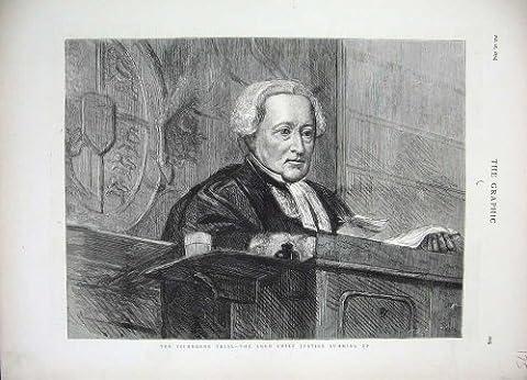 1874 の Tichborne の試験の主裁判長裁判所部屋の芸術