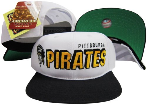 Pittsburgh Pirates Two Tone Plastic Snapback Adjustable Plastic Snap Back Hat / Cap