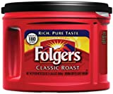 Folgers Classic Roast Ground Coffee, 22.6-Ounce Packages (Pack of 3)