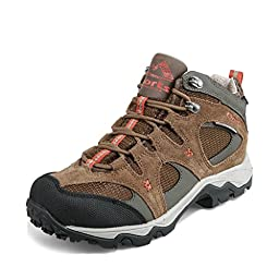Clorts Men\'s Suede Leather Waterproof Mid Hiking Boot Outdoor Backpacking Shoe Brown HKM-820F US7