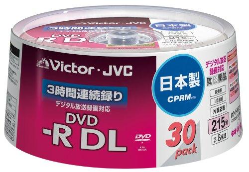 【Amazonの商品情報へ】Victor 映像用DVD-R 片面2層 CPRM対応 8倍速  ワイドホワイトプリンタブル 30枚 日本製 VD-R215CS30