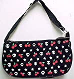 Rockabilly Skulls Stars & Cherries Handbag Purse Clutch