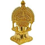 Seyon Brass Kamakshi Kamatchi Devi Maa Oil Lamp Diya Deepam 16 CM
