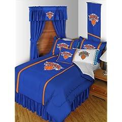 New York Knicks 5 Pc TWIN Comforter Set and One Matching Window Valance Drape Set... by Sports Coverage