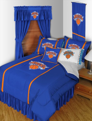 New York Knicks 3 Piece TWIN Comforter SET - Includes: (1 Twin Comforter, 1 Pillow... by Sports Coverage