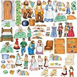 5 Fairy Tale Stories Cottage Classic: 64 Felt Figures Only +Activity Pages/lesson Goldilocks Three Bears Red Riding Hood Shoemaker Stone Soup Jack Beanstalk