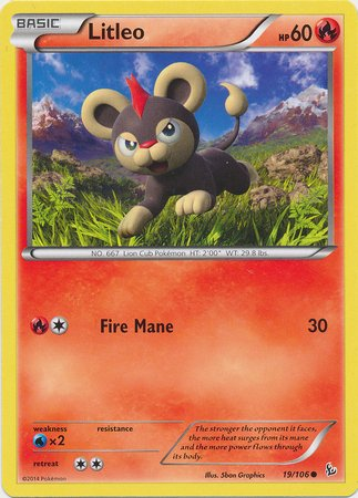 Pokemon - Litleo (19) - XY Flashfire - 1
