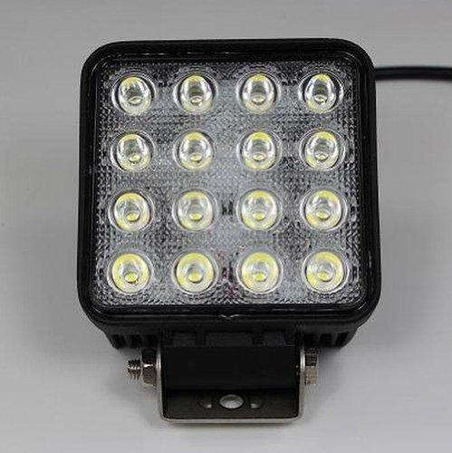 LED Arbeitsscheinwerfer, 9-30 Volt, 48 Watt, (eckig)