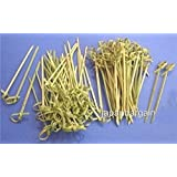 JapanBargain - 300pcs Bamboo Skewers Twisted ends 4 inch