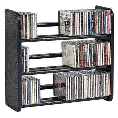 Modular Hardwood Ebony Multi-Media Storage Shelves