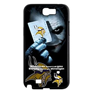 NFL Minnesota Vikings With Joker Poker Unique Design Samsung Galaxy Note 2 N7100 Hard Plastic Durable Back Case For Christmas Gifts