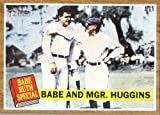 2011 Topps Heritage Baseball Card # 137 Babe Ruth – Babe Ruth Special / New York Yankees (Babe with Manager Huggins ) MLB Trading Card in Screwdown Case