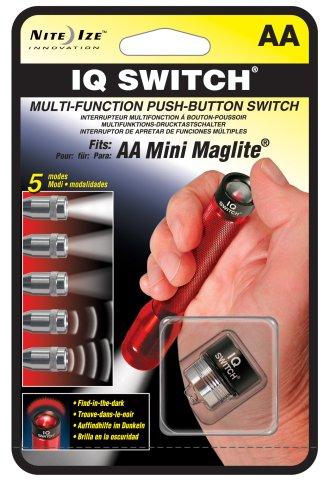 Nite Ize NIQ-07-AA Multi-Function Push Button On/Off IQ Switch for AA Mini Flashlight