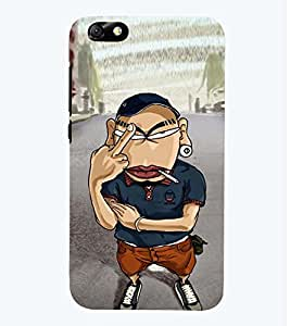 printtech Angry Boy Back Case Cover for Huawei Honor 4X::Huawei Glory Play 4X