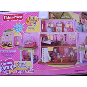 Fisher Price Loving Family Grand Dollhouse 2008 Super Set