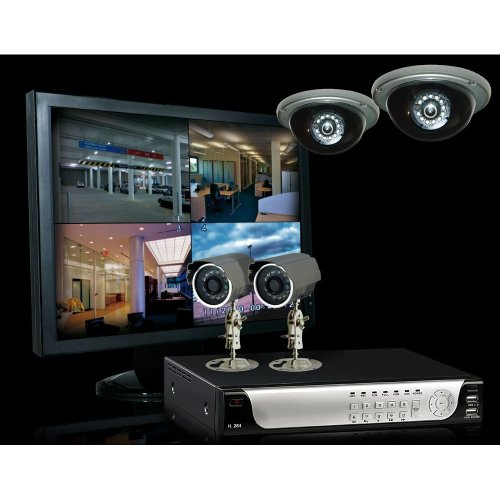CnM Secure Classic 1TB 8 Channel 4 Camera CCTV Security System with 19