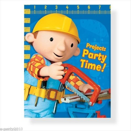 Bob the Builder Invitations - 8 Count
