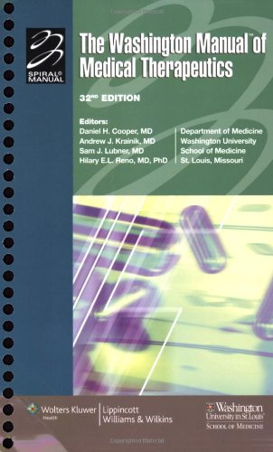 The Washington Manual of Medical Therapeutics, 32nd...