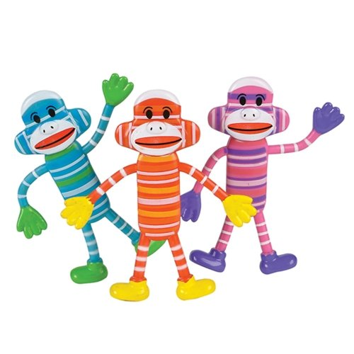 Bendable Sock Monkeys (12 per order)