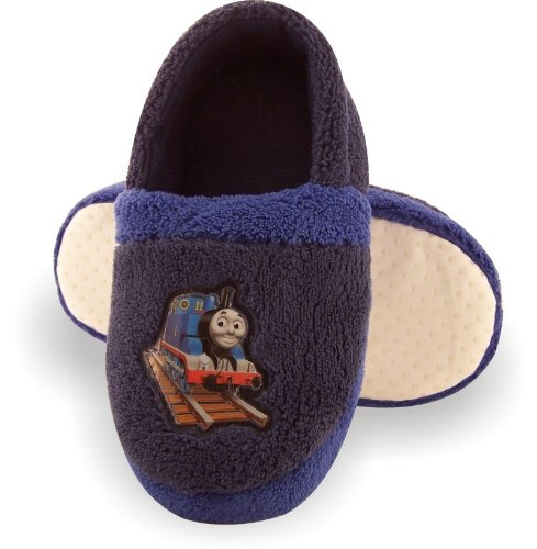Image of Thomas the Tank Engine Toddler Boys Moccasin Blue Slippers (B005X967GO)
