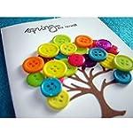 Buttons - 100PCS 15MM 4-Holes Round R...