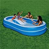 Slide N Spray Pool Intex Inflatable Wet Set with 4 Built in Sprinkler's