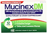 Mucinex Maximum Strength DM Extended-Release Bi-Layer Tablets, 42 Count