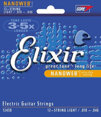 Elixir Strings Electric Guitar Strings, 12-String