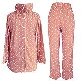 (セシール)cecile あったか襟つきフリースパジャマ NI-201 31 ピンク L