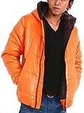 (スペイド) SPADE 中綿ジャケット メンズ フード あったか 防寒 パーカー 【e335】 (XL, オレンジ)