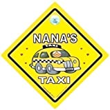 Nana Taxi es, sobre abuelas Taxi, con texto Taxi es, ni�era Taxi es, del beb� plataforma con ruedas para cochecito dise�o vintage con texto en, pegatina para el parachoques, a los Gemelos dise�o vintage con texto en, en ingl�s de mesa, y calcoman�as