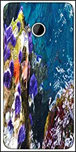 Snoogg Abstract Underwater Designer Protective Back Case Cover For HTC M7