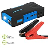 Superpow 800A Peak 18000mah Car Jump Starter Battery Booster Portable Power Bank with Phone Charger(up to 6.5L Gas, 5.2L Diesel Engine)