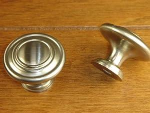 Sonoma Hardware Nantucket Knob Brushed Satin Nickel / Stainless Steel - $2.69 Each NEW