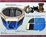 amzdeal Welpenlaufstall Tierlaufstall für Hunde Katze Faltbar Box Grün mit Größe (35cm Breite x 58cm Höhe x 85cm Durchmesser) -