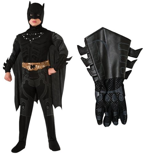 The Dark Knight Rises Batman Light-Up Kids Costume With Gauntlets, Large (12-14)