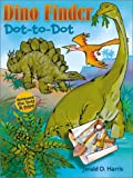 Dino Finder Dot-to-Dot: Connect the Dots & Color