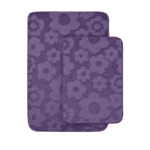 Garland Rug Flower 2-Piece Bath Rug Set, Purple front-1023898