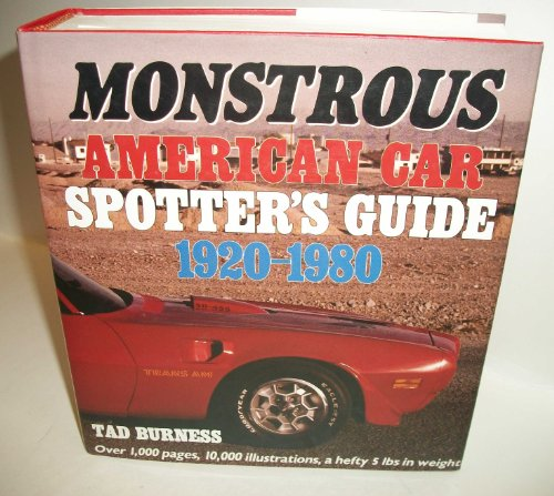 Monstrous American Car Spotter's Guide 1920-1980 (1920 Cars compare prices)