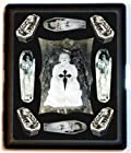 Post Mortem Goth Coffin Cigarette Case or Business Card Case