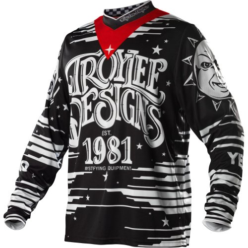 Troy Lee Designs GP Ouiga Men's MotoX/Dirt Bike Motorcycle Jersey - Black
