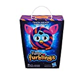 Diagonal Stripes Furby Furblings Orange Blue Plush Figure