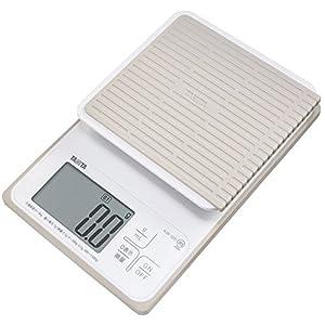タニタ 洗えるデジタルクッキングスケール 3kg(0.1g単位/300gまで) ホワイト KW-320-WH
