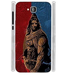 Lord Shiva Graphics Soft Silicon Rubberized Back Case Cover for Huawei Honor Holly 2 Plus :: Honor Holly 2+